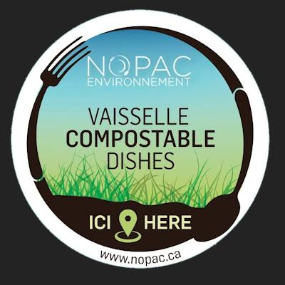 vaisselle compostable nopac environnement
